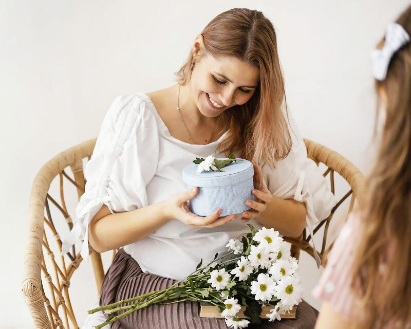 Deň, matiek, darček, láska, úcta, prekvapene