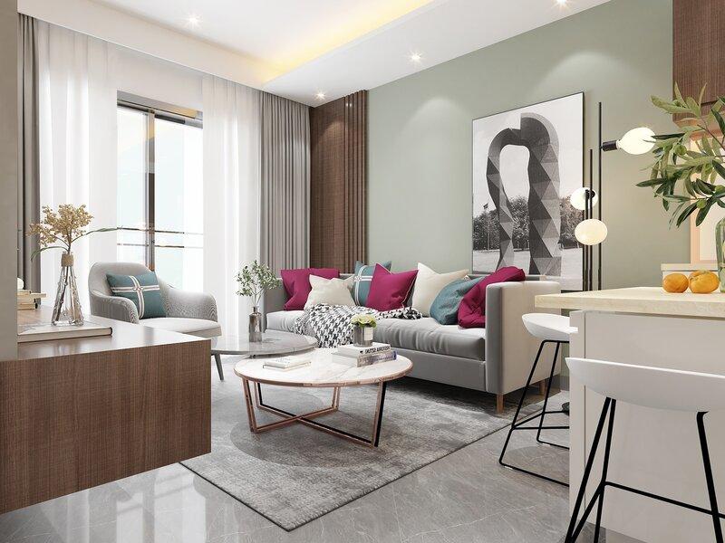 vybrať farby, farbu prispôsobte veľkosti izby