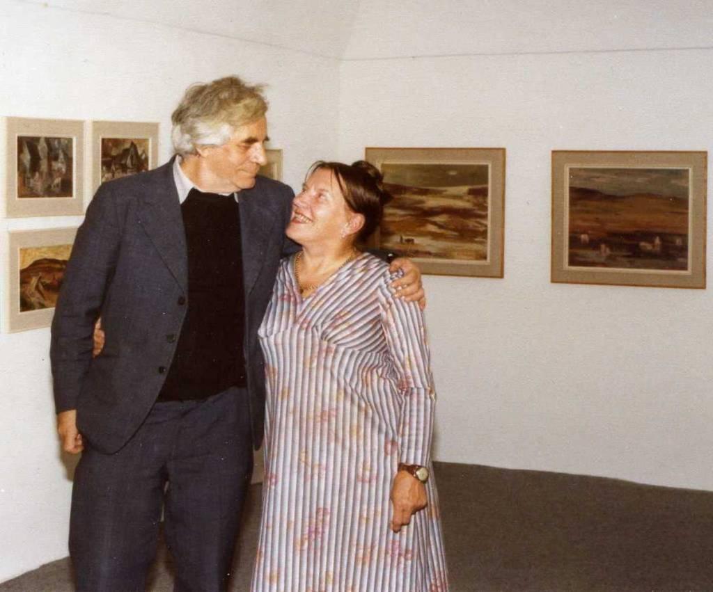 akad.maliar. Ctibor Belan s manželkou M.Medveckou