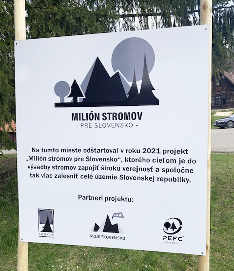 Milión stromov pre Slovensko, Lesy SR