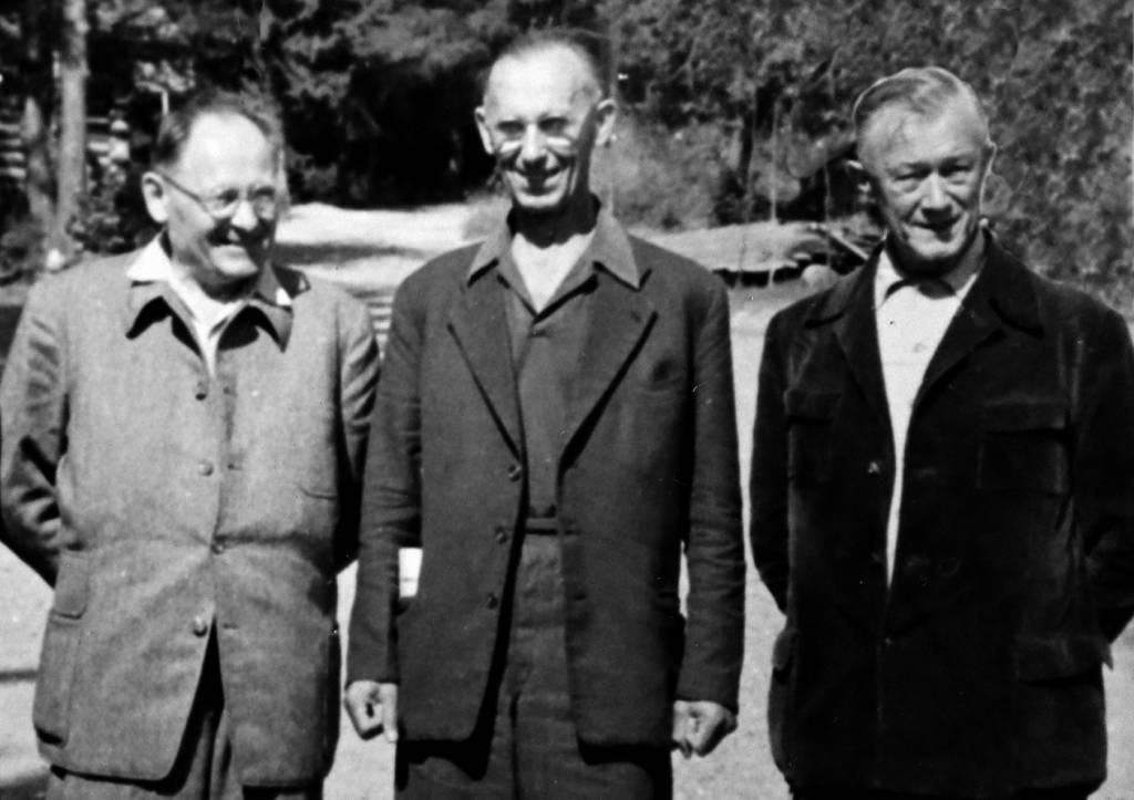 Mlynárčík, František Lipták a Gustáv Nedobrý, augus 1958t