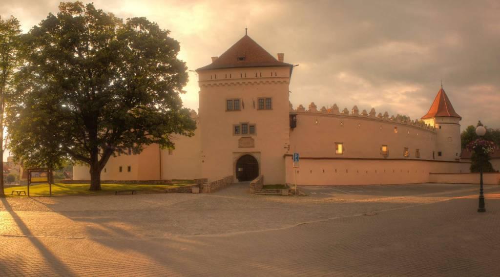 Kežmarský hrad pred západom slnka