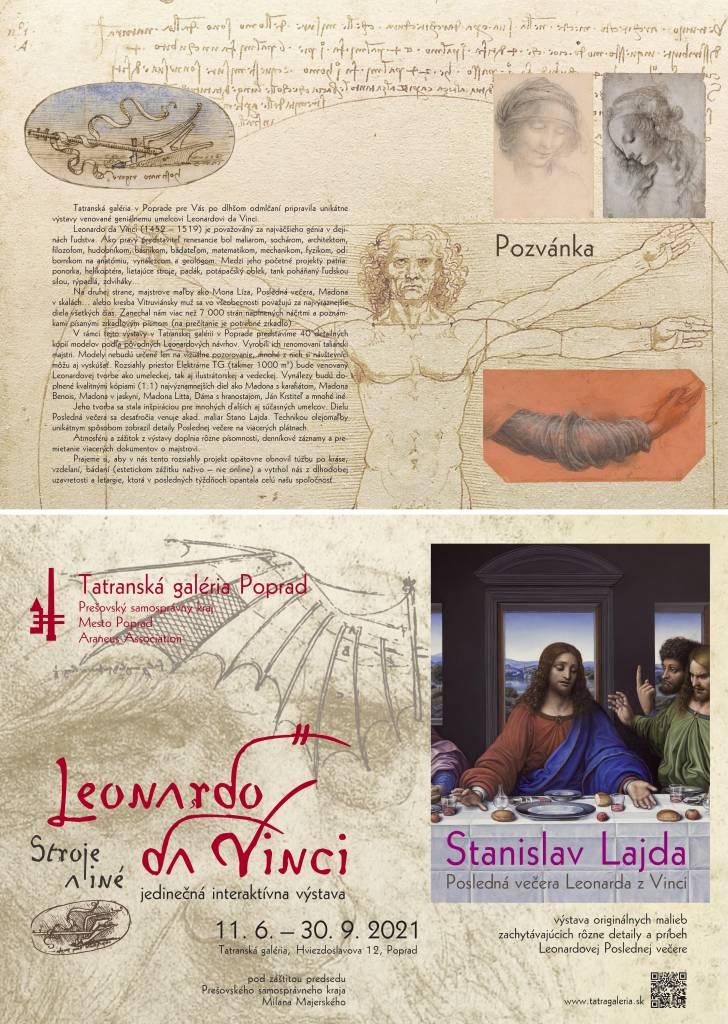 Leonardo da Vinci – Stroje a iné vynálezy i Posledná večera geniálneho majstra z Vinci