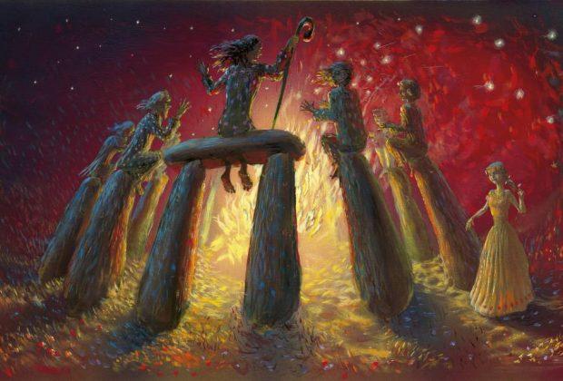 Ilustrácie Peter Uchnár O Dvanástich Mesiačikoch