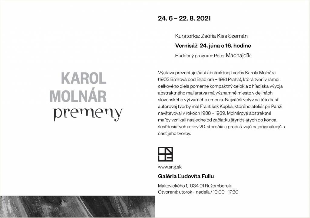 karol Molnár: Premeny, Galéria Ľ.Fullu