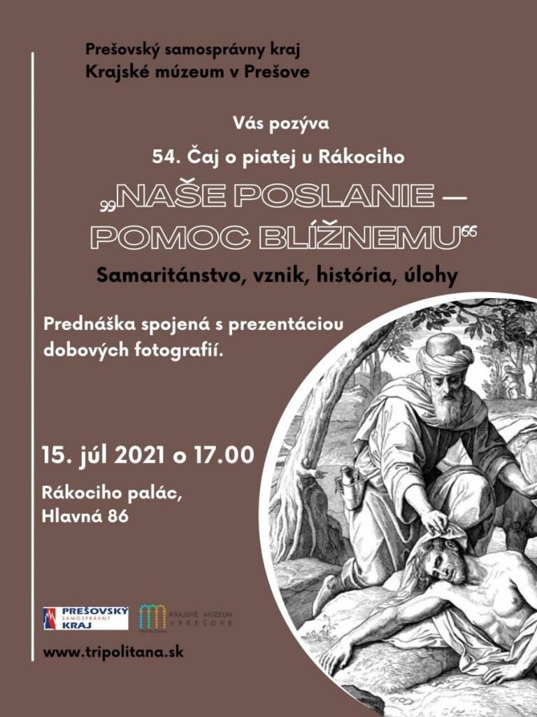 Čaj o piatej Prešov, samaritánstvo, kultúra, história, informácie o Slovenku, cetovný ruch, edukácia