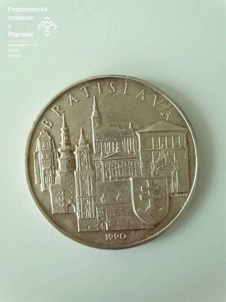 Obr. 2. Reverz Vyobrazenie Siluety Starého Mesta V Bratislave, lexikon, kultúra, múzeum, Slovensko