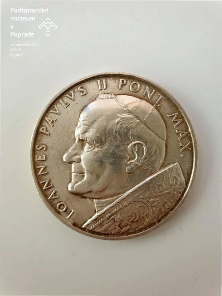 Averz Portrét Pápeža Jána Pavla II., lexikon, kultúra, múzeum, galéria, Slovensko